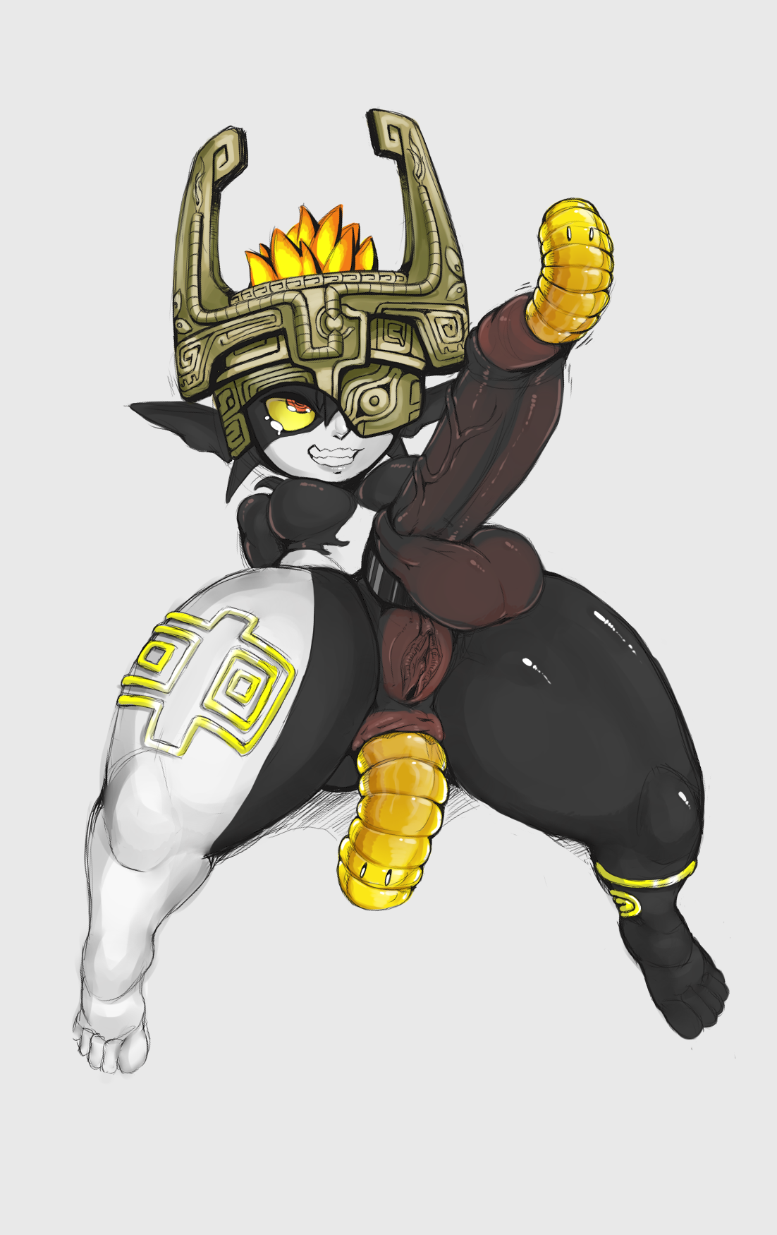 the-nsfw-diner midna imp midna the legend of zelda 1futa alternate color anal anal penetration anus breasts cock ring dickgirl full-package futanari futanari hyper intersex large penis parasite penetration penis pussy testicles urethral insertion worm