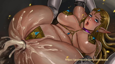 ahegao anus ass bare_shoulders belly blue_eyes braid breasts brown_hair collar cum cum_in_ass cum_on_ass doodlexxx earrings ecoas elbow_gloves eyeshadow gloves jewelry lips makeup navel nintendo plump pointy_ears princess_zelda runny_makeup saliva sweat tears the_legend_of_zelda the_legend_of_zelda:_twilight_princess thick_thighs thighhighs thighs tiara tongue triforce uncensored veins veiny_breasts white_gloves white_legwear