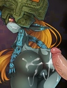 absurd_res after_sex anus ass bent_over blue_nipple breasts creampie cum_inside cum_in_pussy cum_on_ass cum_string heart-shaped_pupils imp_midna large_cock long_hair looking_back midna nintendo orange_hair pointy_ears pussy sideboob small_breasts the_legend_of_zelda
