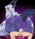 android anus ass ass_grab bed blush clitoris cowgirl_position ejaculation female forehead_jewel girl_on_top groping high_resolution horns hybrid looking_back male nakadashi on_bed on_top orca original original_character penetration penis pochincoff purple_anus purple_skin purple_vagina red_eyes robot robot_girl semen sex spread_legs straddling tail testicles translucent uncensored vagina vaginal vaginal_juices vaginal_penetration