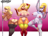 3girls absurd_res anthro anus ape areola areolae armwear ass bandicoot bangle berri big_breasts big_butt bikini blonde_hair blue_eyes blush breasts brown_fur busty candy_kong chipmunk cleavage clitoris clothed clothing collar conker's_bad_fur_day crash donkey_kong ear_piercing elbow_gloves erect_nipples exposed_breasts eyeshadow female fishnet fishnet_legwear fishnet_stockings fur gloves gorilla green_eyes grey_fur hair headband headphones hi_res hoop_earrings hourglass_figure huge_breasts jewelry legwear lipstick long_hair makeup mammal marsupial miniskirt mostly_nude navel nintendo nipples no_underwear orange_fur piercing plankboy pole ponytail presenting presenting_anus presenting_pussy primate pussy rodent skimpy skirt sling_bikini stockings string_bikini stripper stripper_pole swimsuit tawna_bandicoot thicc thick_lips thick_thighs thong topless vagina video_games voluptuous wide_hips wristband