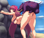 1girls anus areolae blush boar bottomless breasts curvaceous curvy erect_nipples_under_bikini fate/grand_order feral_on_female feral_on_human feral_penetrating flower_in_hair huge_ass huge_breasts human interspecies jadf large_breasts long_hair mature mature_female mature_woman milf naughty_face nipples outdoors outdoor_sex penetration purple_hair red_eyes scathach sex taken_from_behind thicc uncensored vaginal_penetration wild_boar