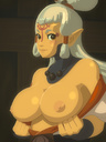 areolae big_breasts breasts flashing looking_at_viewer necklace nipples paya smile the_legend_of_zelda