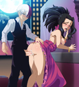 1girls ass black_hair breasts clothed_sex clothes cum_inside dress female herchi momo_yaoyorozu my_hero_academia penetration penis sex shouto_todoroki standing_doggy_style thick_thighs vaginal_penetration wide_hips