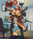 anthro areolae balls big_breasts bodily_fluids breasts clothing cum cum_inside cum_in_pussy cum_splatter domination duo ejaculation erection female female_penetrated fish full_nelson genitals genital_fluids hi_res huge_breasts humanoid_genitalia humanoid_penis impregnation inside internal kazuhira male male/female male_domination male_penetrating male_penetrating_female marine neltharion290 nipples nipple_piercing office orgasm ovum penetration penis piercing pussy riptideshark running_mascara sex shark smile sperm_cell standing syrena tongue tongue_out torn_clothing unprofessional_behavior vaginal vaginal_penetration