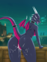 absurd_res activision anthro anus ass bodily_fluids breasts cum cum_inside cum_in_pussy cynder detailed_background dialogue dragon english_text female genitals genital_fluids hi_res long_tail looking_at_viewer looking_back membrane membranous_wings multicolored_body multicolored_scales naked nude open_mouth pink_body pink_scales pink_tail pink_wings purple_body purple_scales purple_tail purple_wings pussy raised_tail rear_view reptile scales scalie small_wings solo spyro_the_dragon text tongue two_tone_body two_tone_scales two_tone_tail two_tone_wings unrealcereal video_games wings