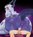 android anus ass ass_grab bed blush clitoris cowgirl_position female forehead_jewel girl_on_top groping high_resolution horns hybrid looking_back male on_bed on_top orca original original_character penetration penis pochincoff purple_anus purple_skin purple_vagina red_eyes robot robot_girl sex spread_legs straddling tail testicles translucent uncensored vagina vaginal vaginal_juices vaginal_penetration